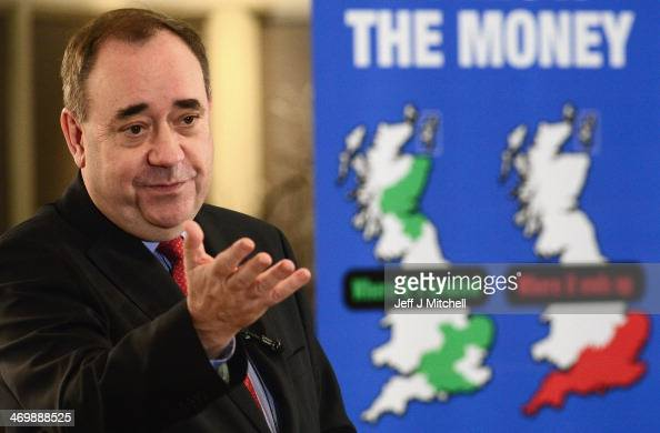 Alex Salmond Scotlands First Minister addresses a Business for Scotland event on February 17 2014 in Aberdeen Scotland Scotlands first minister...