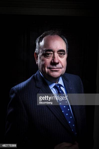 Alex Salmond Scotland's first minister stands for a photograph after an interview in New York US on Friday April 4 2014 Salmond discussed Margo...