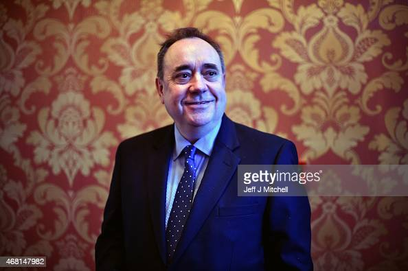 Alex Salmond the SNP candidate for the Gordon constituency attends a hustings event on the first day of the British General Election campaign on...