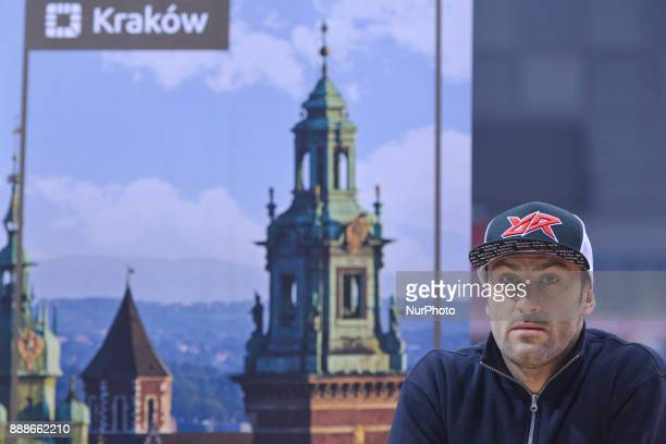 Alex Salvini an Italian motorcycle rider specialized in enduro and motocross and former the E2 World Enduro Champion during a press conference ahead...