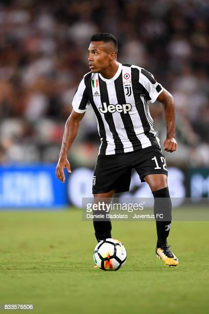 Alex Sandro during the Italian Supercup match between Juventus and SS Lazio at Stadio Olimpico on August 13 2017 in Rome Italy