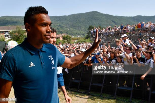 Alex Sandro during the preseason friendly match between Juventus A and Juventus B on August 17 2017 in Villar Perosa Italy