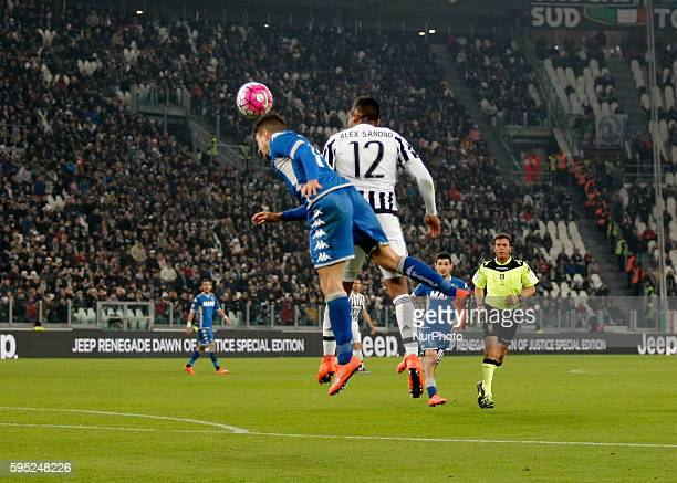 Alex Sandro during the serie A match between Juventus FC and US Sassuolo Calcio at the Juventus Stadium of Turin on march 11 2016 in Torino italy