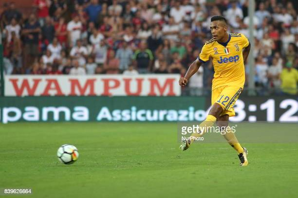 Alex Sandro in action during the Serie A football match between Genoa CFC and Juventus FC at Luigi Ferraris stadium on august 26 2017 in Genoa Italy