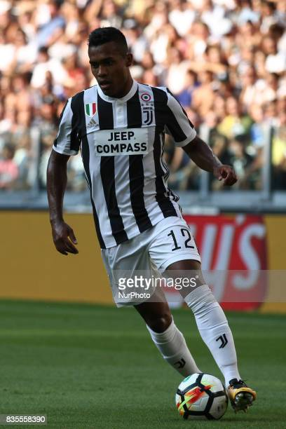 Alex Sandro in action during the Serie A football match n1 JUVENTUS CAGLIARI on at the Allianz Stadium in Turin Italy