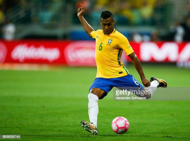 Alex Sandro of Brazil in action during the match between Brazil and Chile for the 2018 FIFA World Cup Russia Qualifier at Allianz Parque Stadium on...