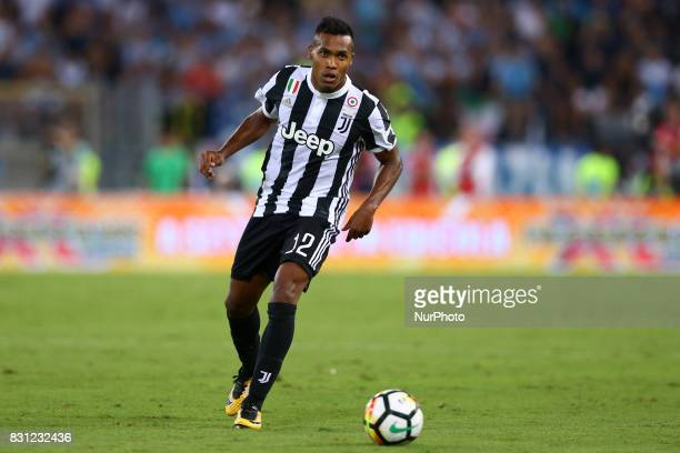 Alex Sandro of Juventus during the Italian Supercup match between Juventus and SS Lazio at Stadio Olimpico on August 13 2017 in Rome Italy