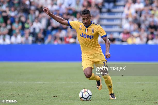Alex Sandro of Juventus during the Serie A match between Sassuolo and Juventus at Mapei Stadium Reggio Emilia Italy on 17 September 2017