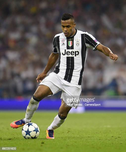 Alex Sandro of Juventus during the UEFA Champions League Final match between Juventus and Real Madrid at National Stadium of Wales on June 3 2017 in...