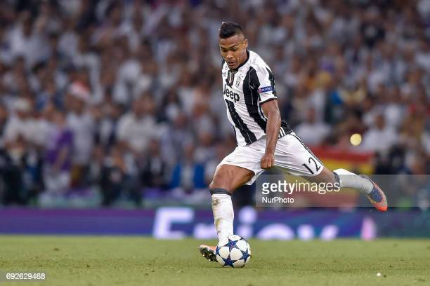 Alex Sandro of Juventus during the UEFA Champions League Final match between Real Madrid and Juventus at the National Stadium of Wales Cardiff Wales...