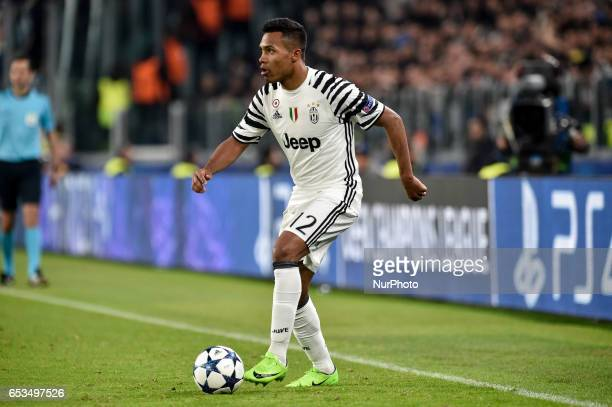 Alex Sandro of Juventus during the UEFA Champions League Round of 16 game 2 match between Juventus and Porto at the Juventus Stadium Turin Italy on...