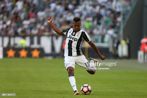 Alex Sandro of Juventus Fc in action during the Serie A football match between Juventus FC and US Sassuolo Juventus FC wins 31 over US Sassuolo