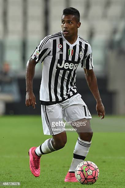 Alex Sandro of Juventus FC in action during the Serie A match between Juventus FC and AC Chievo Verona at Juventus Arena on September 12 2015 in...