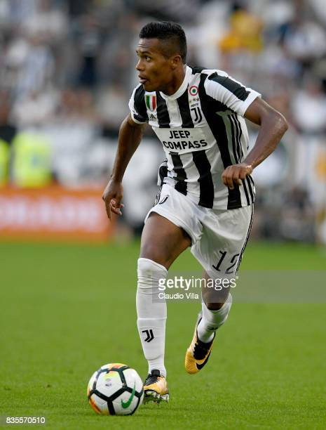 Alex Sandro of Juventus FC in action during the Serie A match between Juventus and Cagliari Calcio at Allianz Stadium on August 19 2017 in Turin Italy
