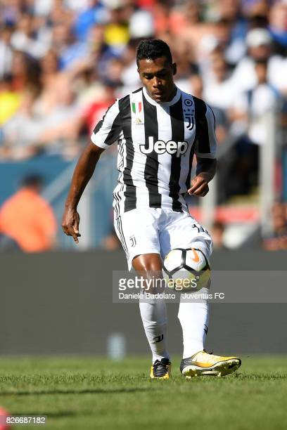 Alex Sandro of Juventus in action during the International Champions Cup 2017 match between AS Roma and Juventus at Gillette Stadium on July 30 2017...