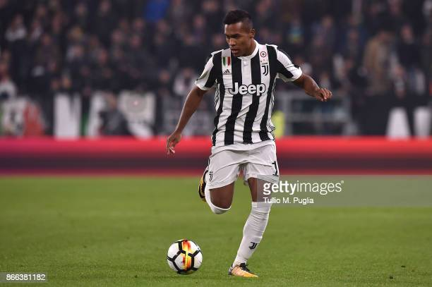 Alex Sandro of Juventus in action during the Serie A match between Juventus and Spal on October 25 2017 in Turin Italy