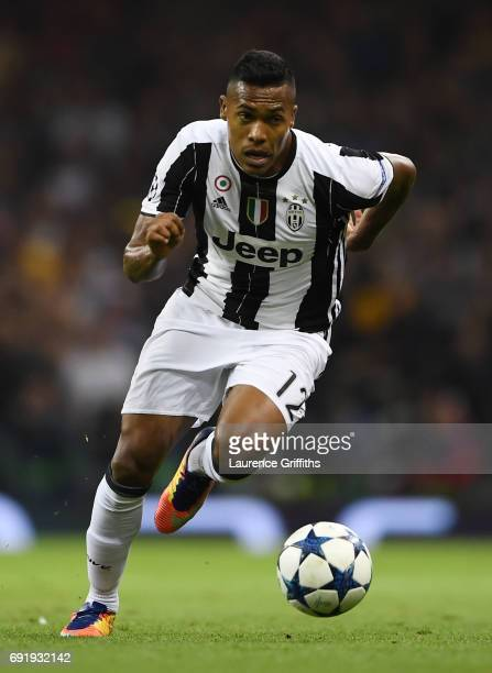 Alex Sandro of Juventus in action during the UEFA Champions League Final between Juventus and Real Madrid at National Stadium of Wales on June 3 2017...