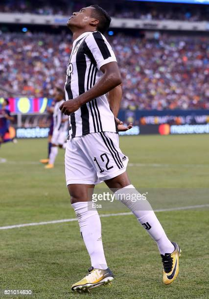 Alex Sandro of Juventus reacts to a missed shot in the second half against Barcelona during the International Champions Cup 2017 on July 22 2017 at...