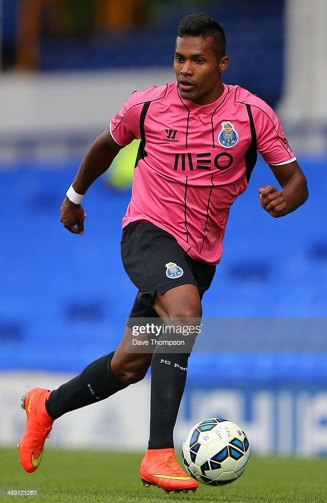 Alex Sandro of Porto during the Pre-Season Friendly between Everton and Porto at Goodison Park on August 3, 2014 in Liverpool, England.