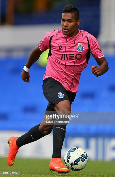 Alex Sandro of Porto during the PreSeason Friendly between Everton and Porto at Goodison Park on August 3 2014 in Liverpool England