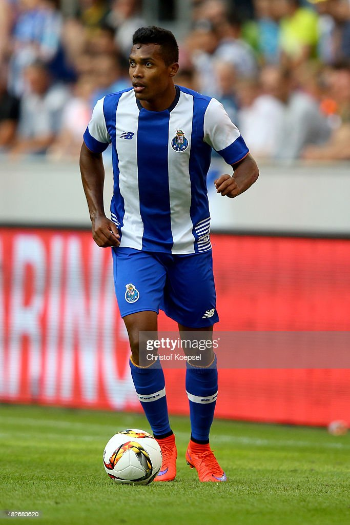 Alex Sandro of Porto runs with the ball during the Colonia Cup 2015 match between FC Valencia and FC Porto at RheinEnergieStadion on August 1, 2015 in Cologne, Germany.