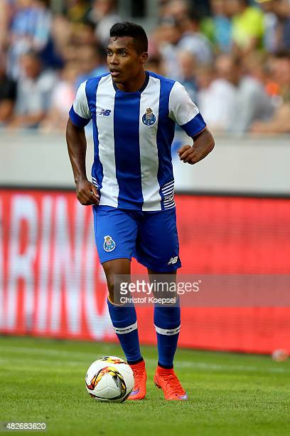 Alex Sandro of Porto runs with the ball during the Colonia Cup 2015 match between FC Valencia and FC Porto at RheinEnergieStadion on August 1 2015 in...