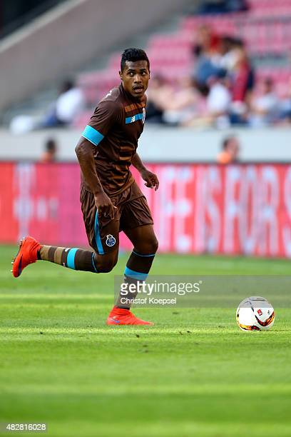 Alex Sandro of Porto runs with the ball during the Colonia Cup 2015 match between FC Porto and Stoke City FC at RheinEnergieStadion on August 2 2015...