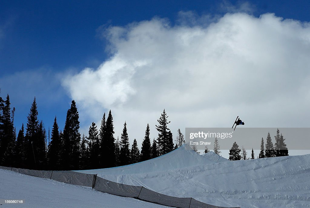 Alex Schlopy competes in the FIS Freestyle Ski World Cup men's slope style final at the U.S. Grand Prix on January 12, 2013 in Copper Mountain, Colorado.