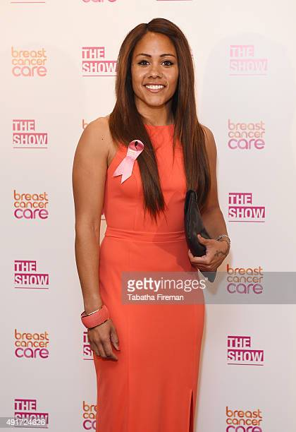 Alex Scott attends Breast Cancer Care's London fashion show at Grosvenor House Hotel to launch Breast Cancer Awareness Month on October 7 2015 in...