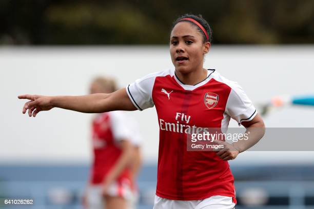 Alex Scott of Arsenal during the Women's Friendly Match between VfL Wolfsburg Women's and Arsenal FC Women on February 4 2017 in Vila Real Santo...