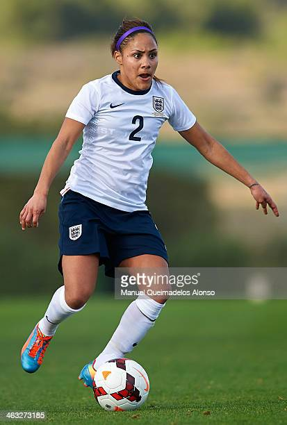 Alex Scott of England in action during the friendly match between England and Norway at la Manga Club on January 17 2014 in La Manga Spain