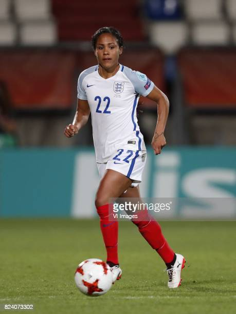 Alex Scott of England women during the UEFA WEURO 2017 Group D group stage match between Portugal and England at Koning Willem II stadium on July 27...