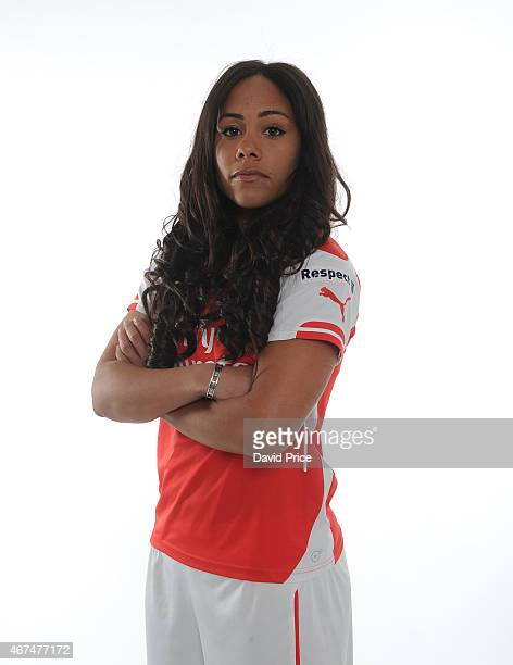 Alex Scott of the Arsenal Ladies at London Colney on March 24 2015 in St Albans England