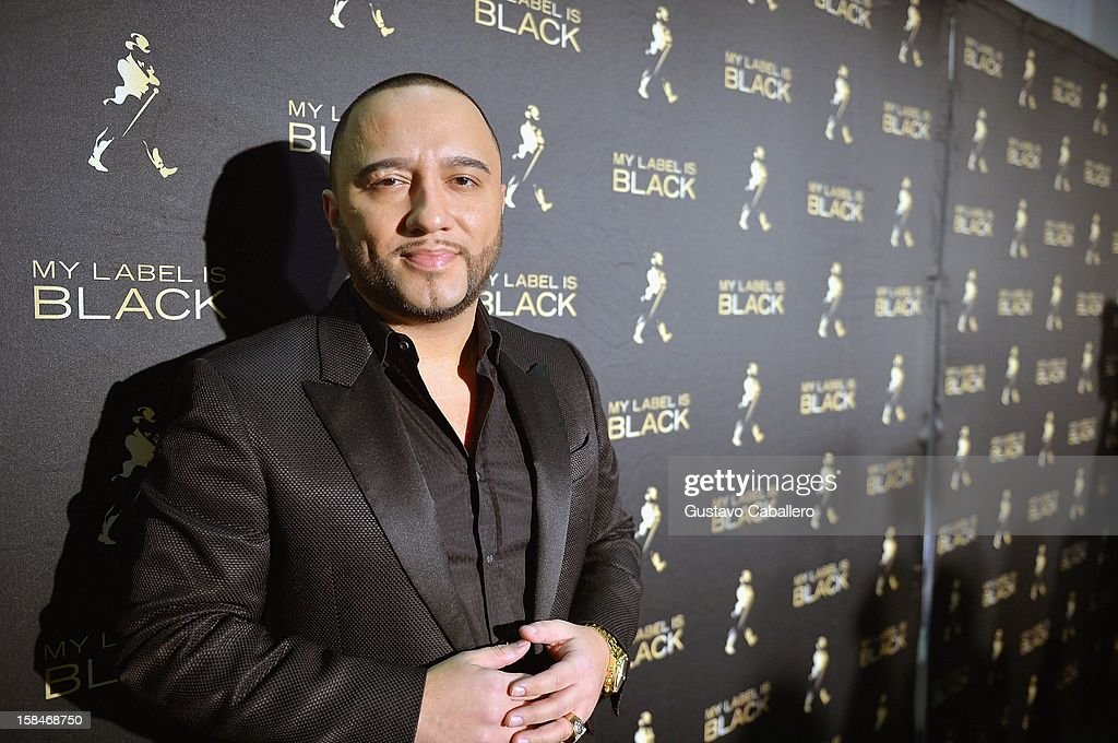<a gi-track='captionPersonalityLinkClicked' href=/galleries/search?phrase=Alex+Sensation&family=editorial&specificpeople=7366496 ng-click='$event.stopPropagation()'>Alex Sensation</a> attends the Johnnie Walker My Label is Black at Bongos on December 13, 2012 in Miami, Florida.