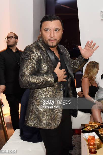 Alex Sensation attends the Romeo Santos celebration of 'GOLDEN' and his Birthday at One World Trade Center on July 20 2017 in New York City