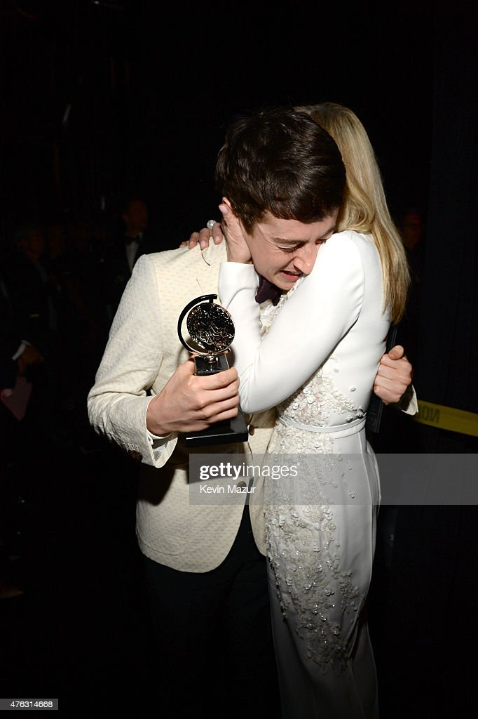 Alex Sharp and Judith Light attend the 2015 Tony Awards at Radio City Music Hall on June 7, 2015 in New York City.