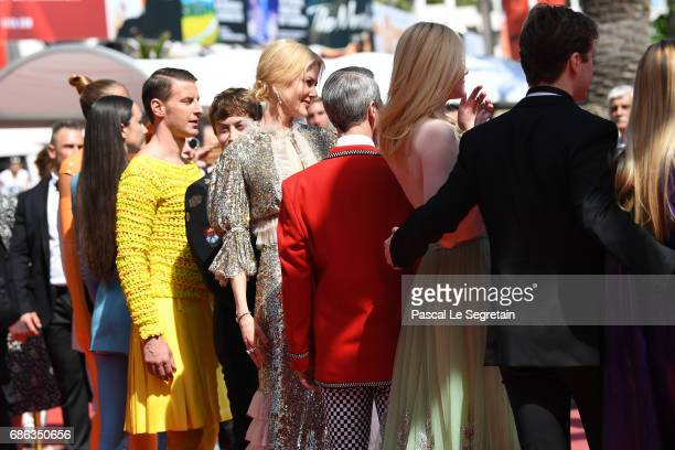 Alex Sharp Nicole Kidman director John Cameron Mitchel actress Elle Fanning AJ Lewis and members of the cast attend the 'How To Talk To Girls At...