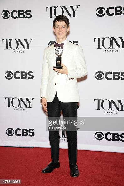 Alex Sharp poses in the press room during the American Theatre Wing's 69th Annual Tony Awards at Radio City Music Hall on June 7 2015 in New York City
