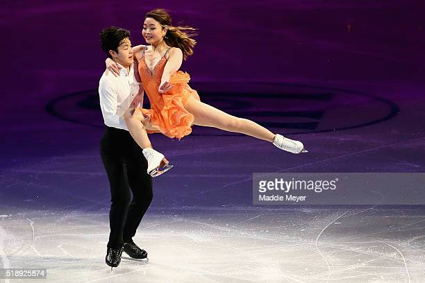Alex Shibutani and Maia Shibutani of the United States perform during the Exhibition of Champions on Day 7 of the ISU World Figure Skating...