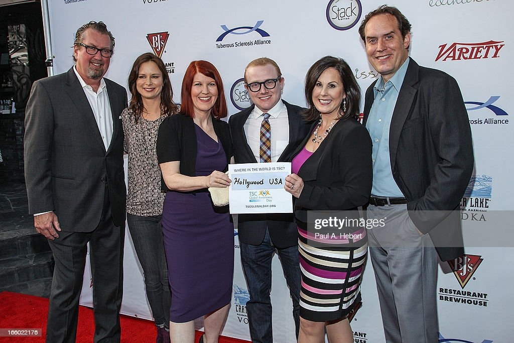 Alex Skuby, Mary Lynn Rajskub, Kate Flannery, Brad Wollack, Kari Luther Rosbeck, and Scot Robinson attend the Comedy for a Cure benefit held at Lure on April 7, 2013 in Hollywood, California.