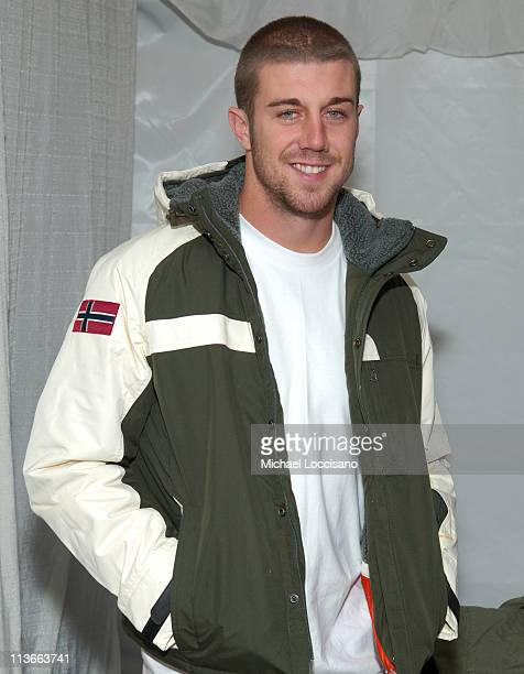 Alex Smith wearing Napapijri at The Ice Lounge presented by The North Face Lexus and St Regis *Exclusive*