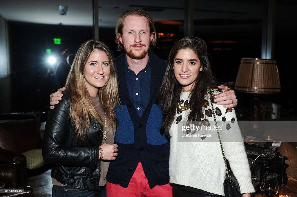 Alex Solar, Bernard Silli and Stefanie Barba attend The 'Last Supper' Discussion hosted By Stephen Webster At Soho House at Soho House on November 8, 2013 in West Hollywood, California.