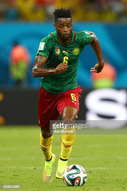 Alex Song of Cameroon controls the ball during the 2014 FIFA World Cup Brazil Group A match between Cameroon and Croatia at Arena Amazonia on June 18...