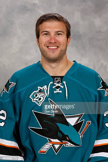 Alex Stalock of the San Jose Sharks poses for his official headshot for the 201516 season on September 17 2015 at Sharks Ice in San Jose California