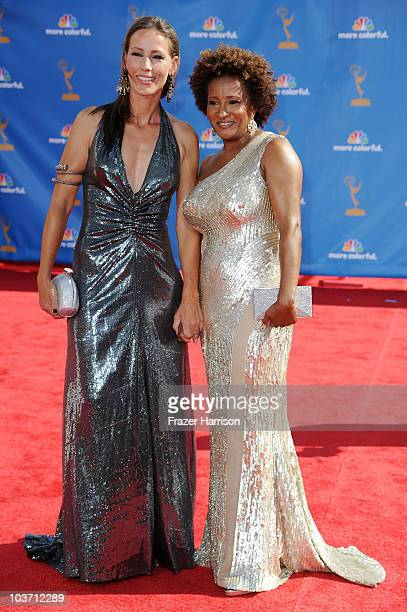 Alex Sykes and actress Wanda Sykes arrive at the 62nd Annual Primetime Emmy Awards held at the Nokia Theatre LA Live on August 29 2010 in Los Angeles...