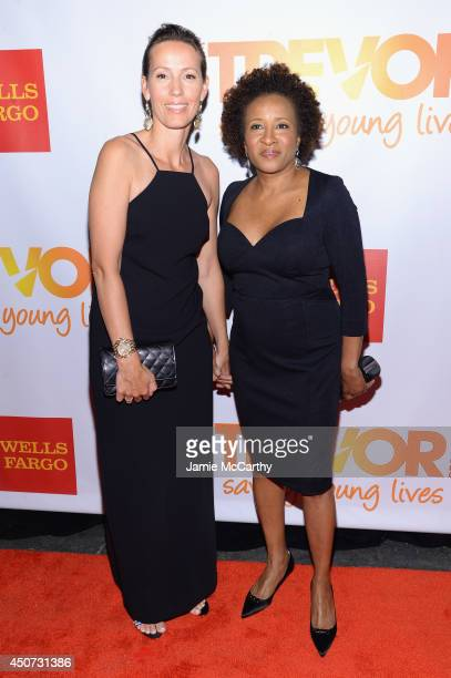 Alex Sykes and Wanda Sykes attend the Trevor Project's 2014 'TrevorLIVE NY' Event at the Marriott Marquis Hotel on June 16 2014 in New York City