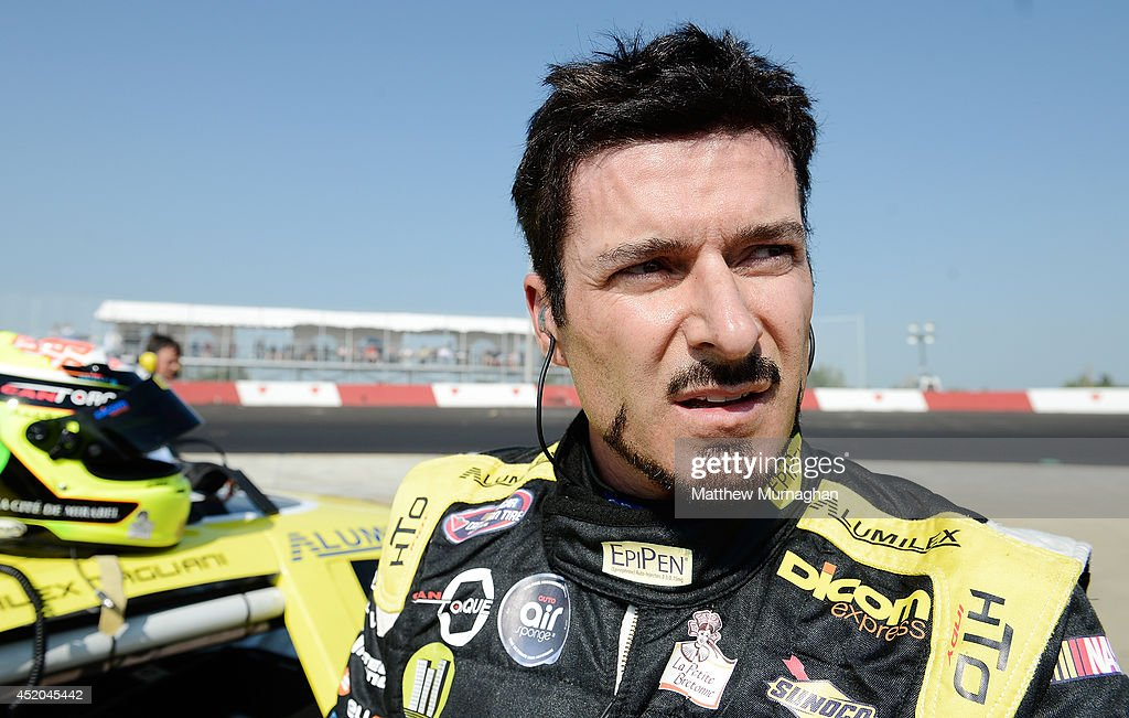<a gi-track='captionPersonalityLinkClicked' href=/galleries/search?phrase=Alex+Tagliani&family=editorial&specificpeople=220628 ng-click='$event.stopPropagation()'>Alex Tagliani</a>, driver of the #18 EpiPen/Dicom Express Dodge won the pole for the NCATS Edmonton at Edmonton International Raceway on July 11, 2014 in Wetaskiwin, Alberta, Canada.