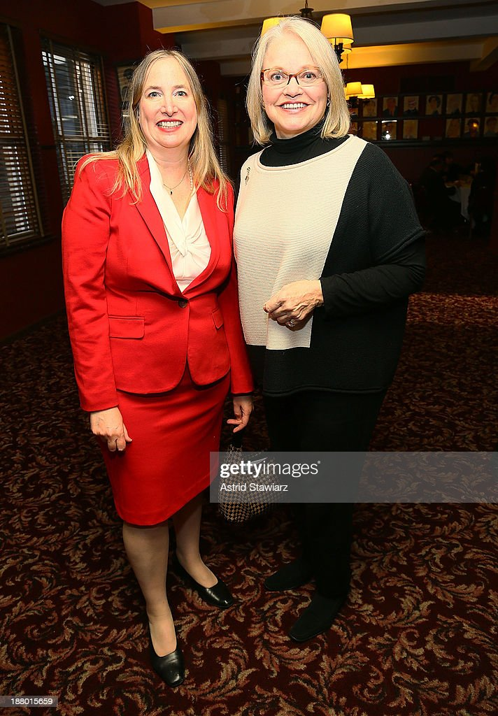 J. Alex Tarquinio and Betsy Ashton attend The Deadline Club's New York Journalism Hall of Fame 2013 Luncheon at Sardi's on November 14, 2013 in New York City.