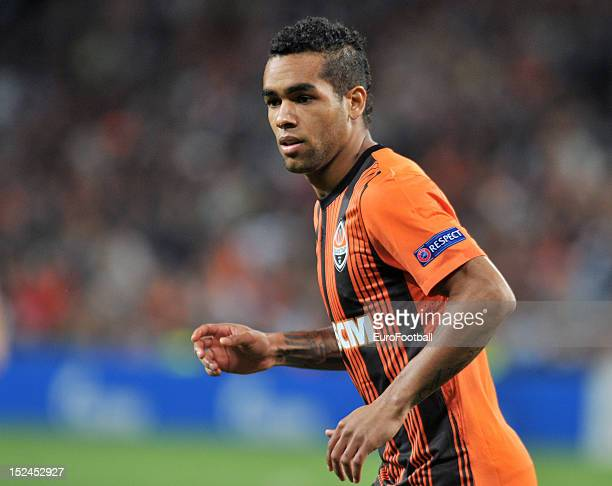 Alex Teixeira of FC Shakhtar Donetsk in action during the UEFA Champions League group stage match between FC Shakhtar Donetsk and FC Nordsjaelland at...