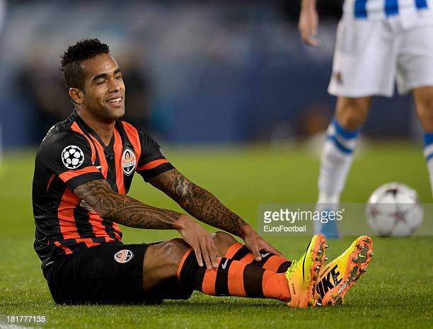 Alex Teixeira of FC Shakhtar Donetsk in action during the UEFA Champions League group stage match between Real Sociedad de Futbol and Shakhtar...